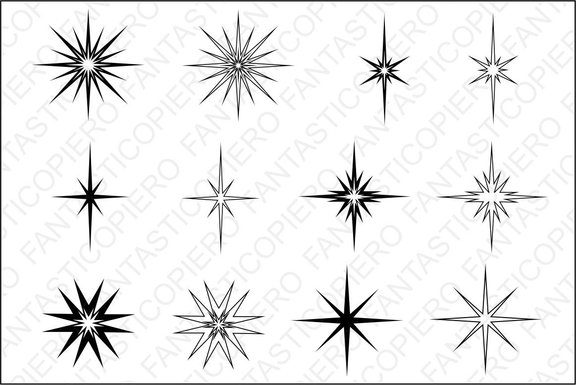 Stars And Sparkles Svg Files For Silhouette Cameo And Cricut By