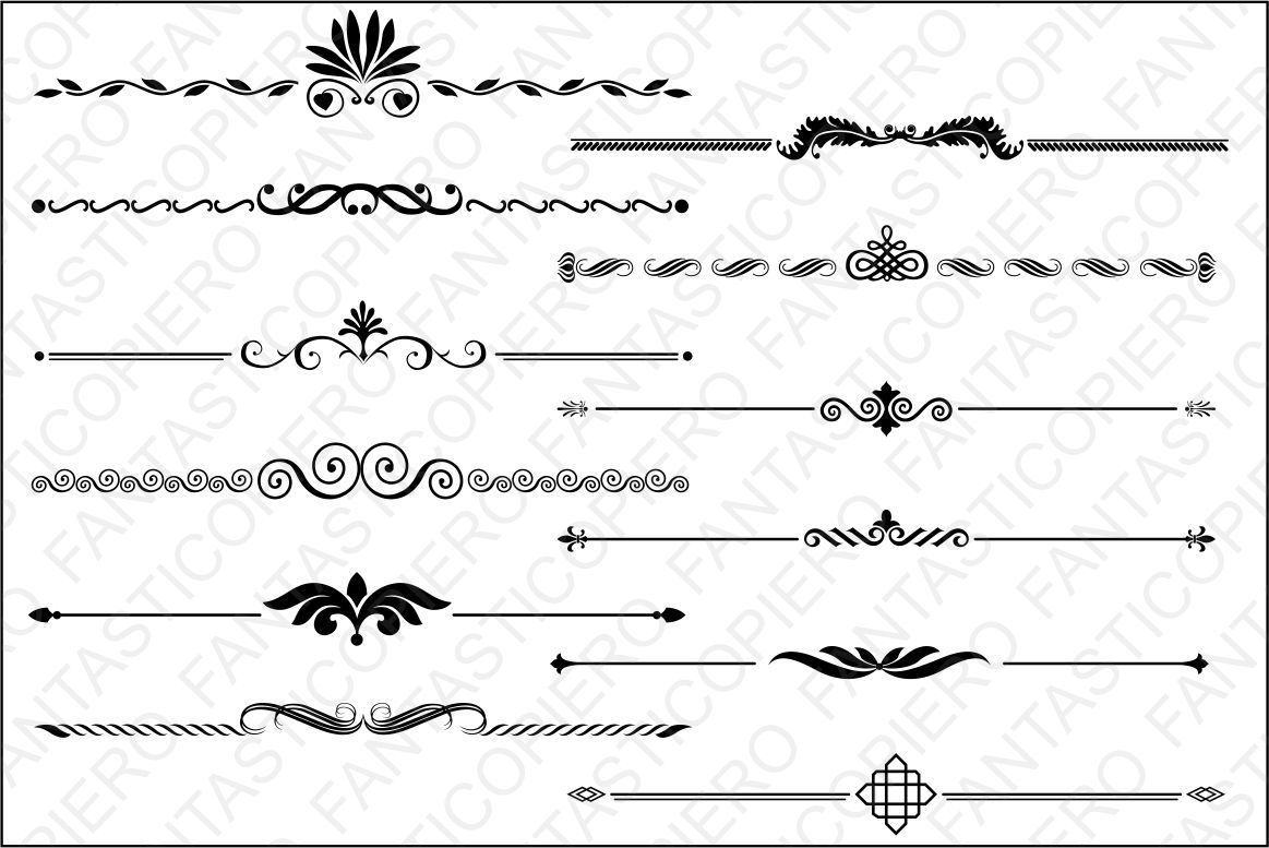 Text Dividers 2 Svg Files For Silhouette Cameo And Cricut By