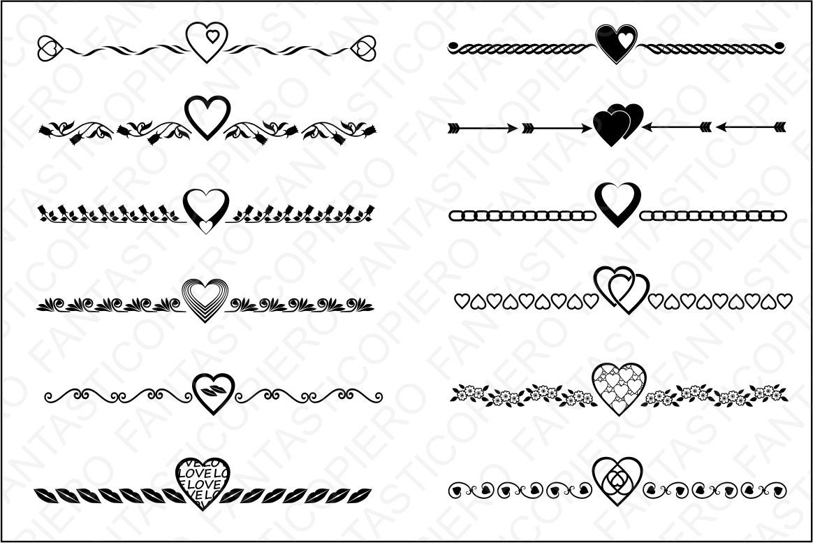 Dividers Valentine S Day Wedding And Love Svg Files By