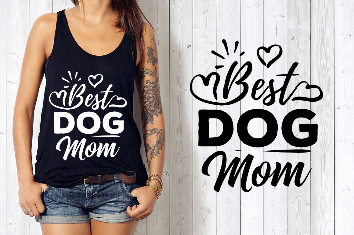 Best Dog Mom Svg By Blackcatssvg Thehungryjpeg Com
