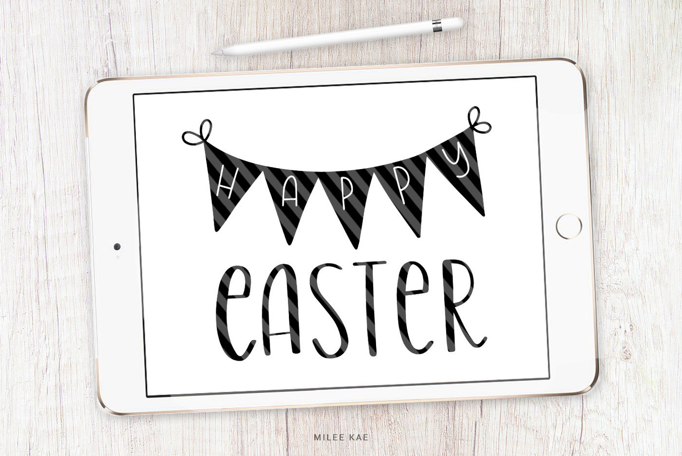 Happy Easter Svg Cutting File And Decal By Mileekae