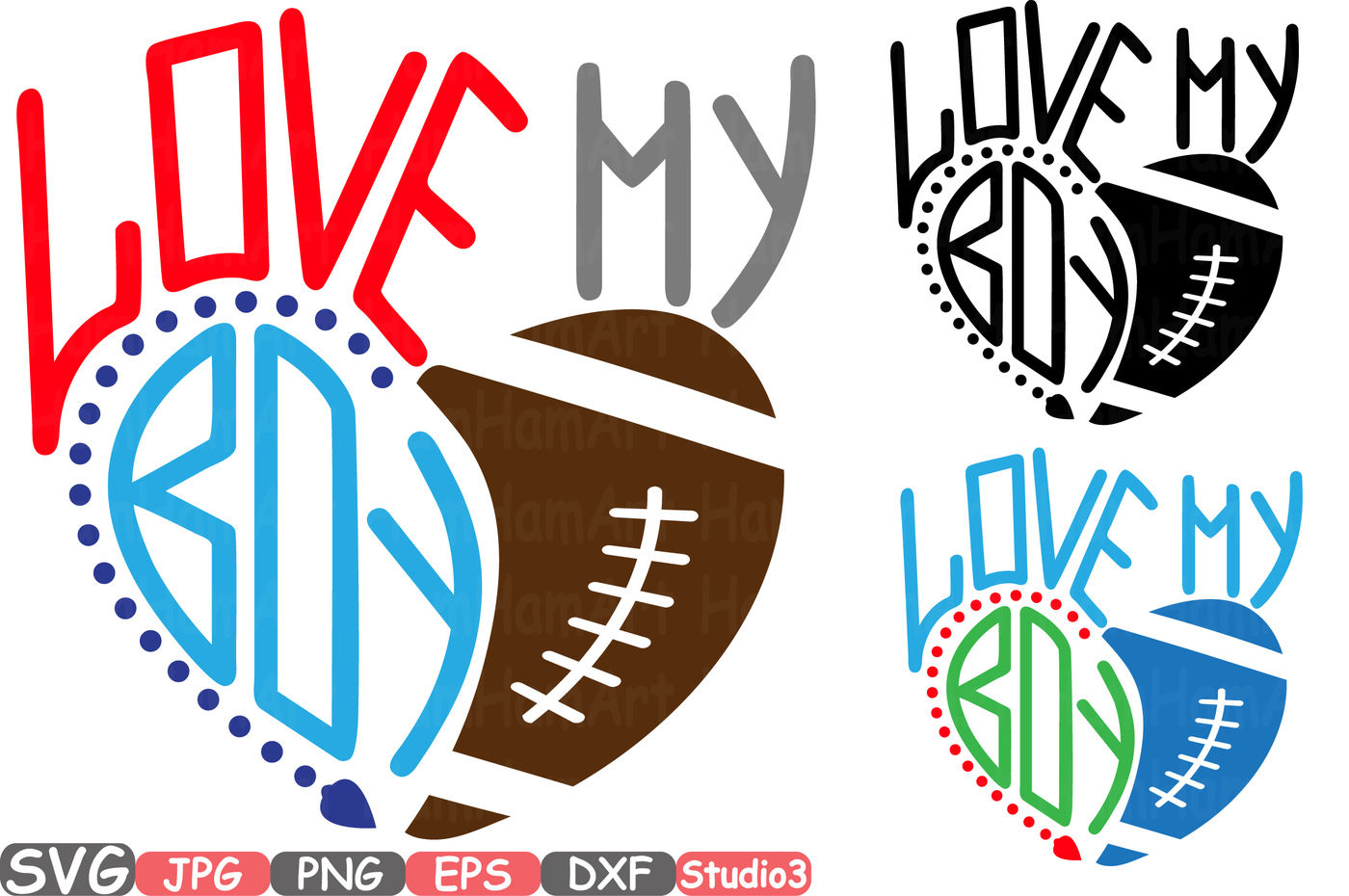 Download Love my boy Silhouette SVG Love My Football Boy mom sister ...