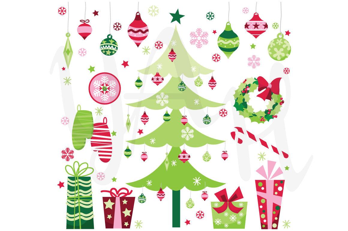 Retro Christmas Clip Art By Yenzarthaut Thehungryjpeg Com