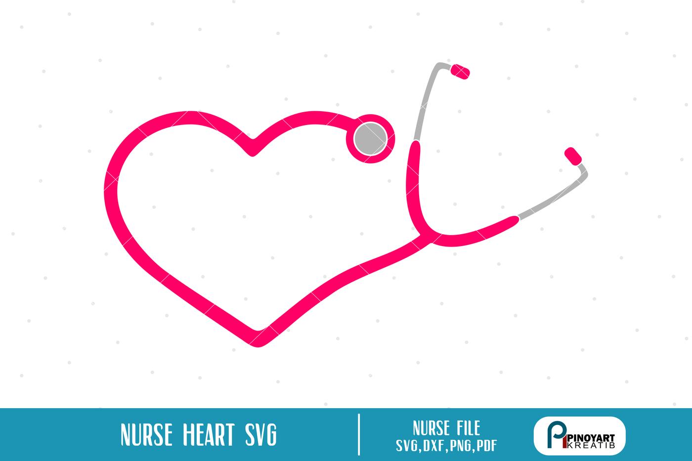 Nurse Stethoscope Svg Nurse Svg Nurse Dxf Nurse Clip Art Hospital