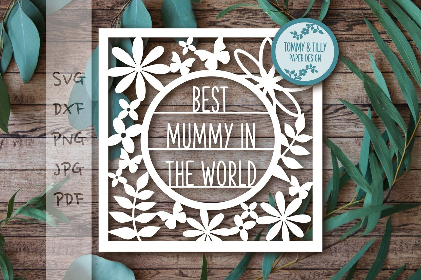 Best Mummy Frame Svg Dxf Pdf Png Jpg By Tommy And Tilly Design