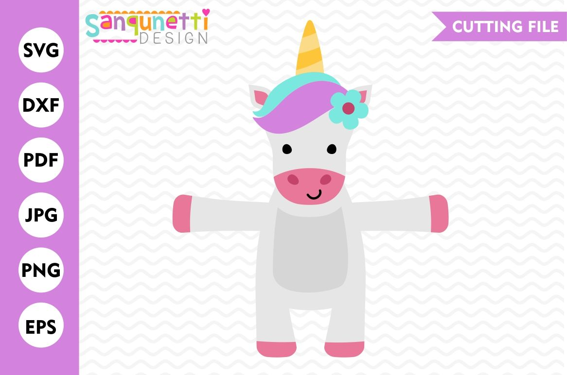 Unicorn Candy Hugger Svg Unicorn Svg By Sanqunetti Design