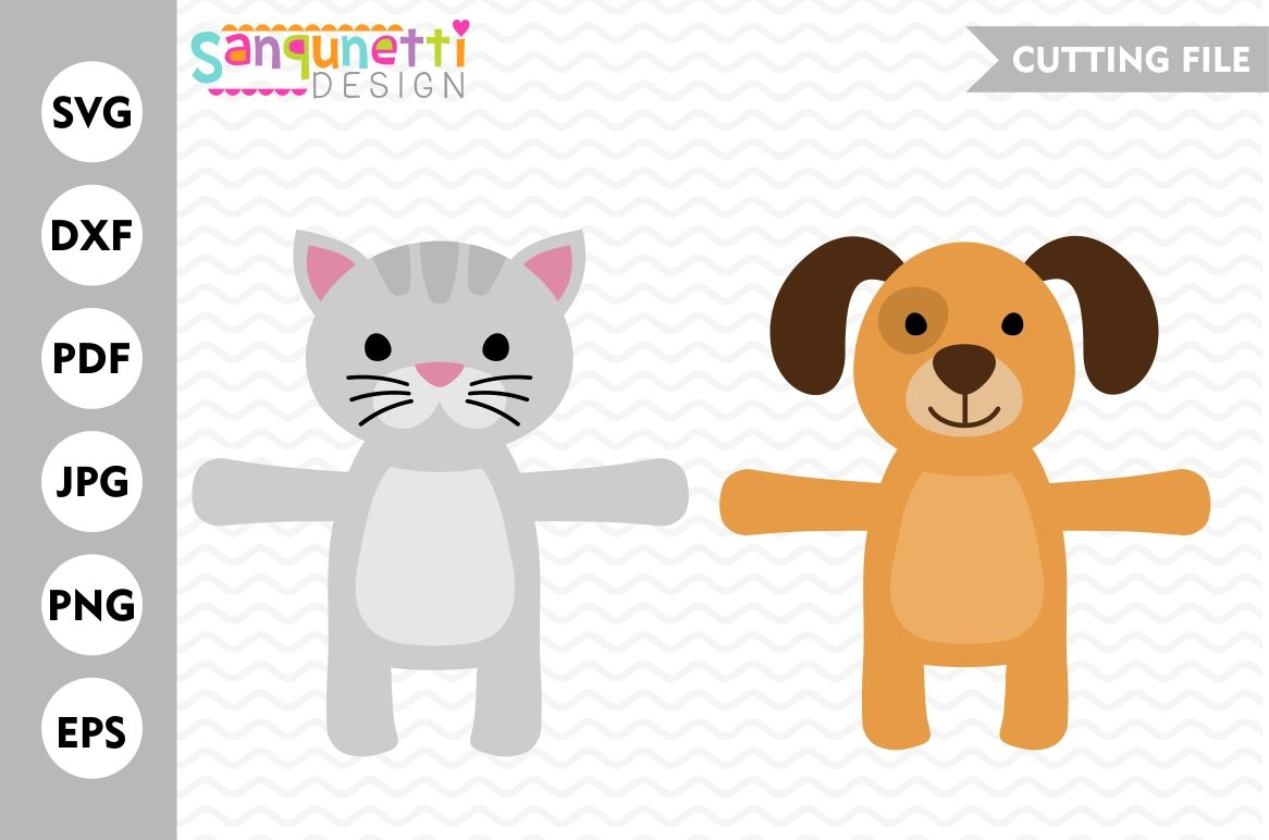 Dog And Cat Candy Huggers Dog Svg Cat Svg Party Favor By