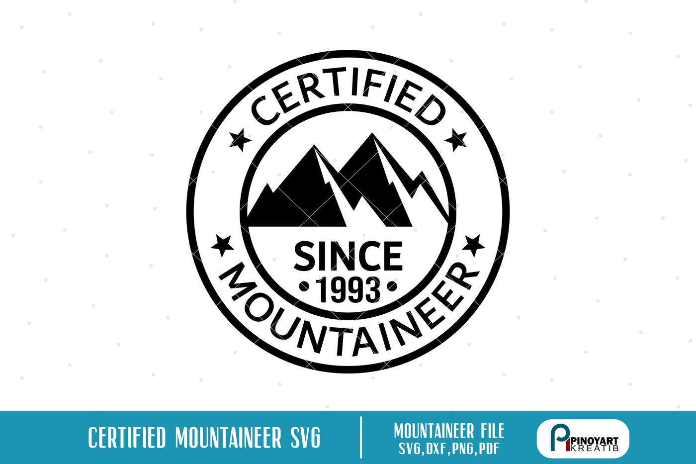 Mountaineer Svg Mountaineer Logo Svg Mountain Svg File Mountains