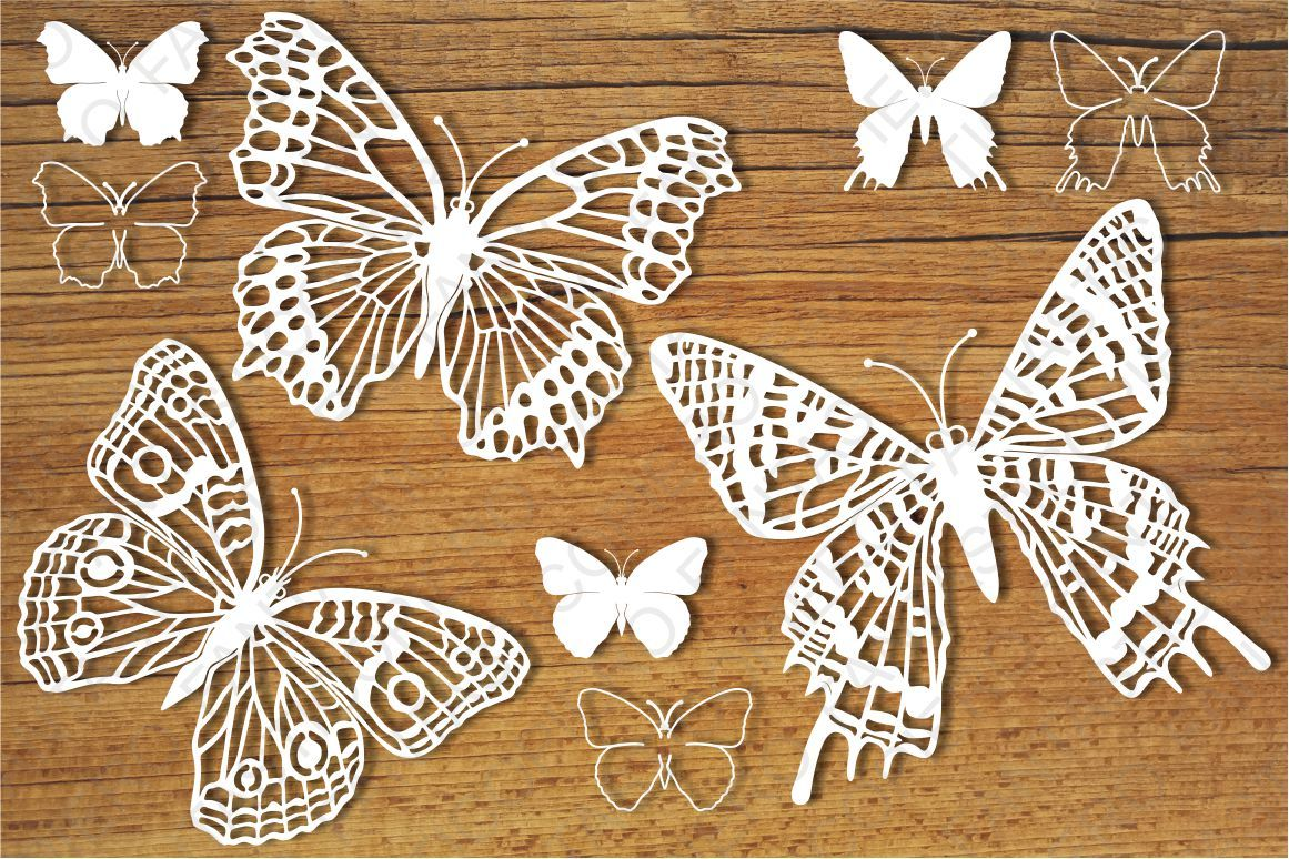 Butterflies Set 5 Svg Files For Silhouette Cameo And Cricut By