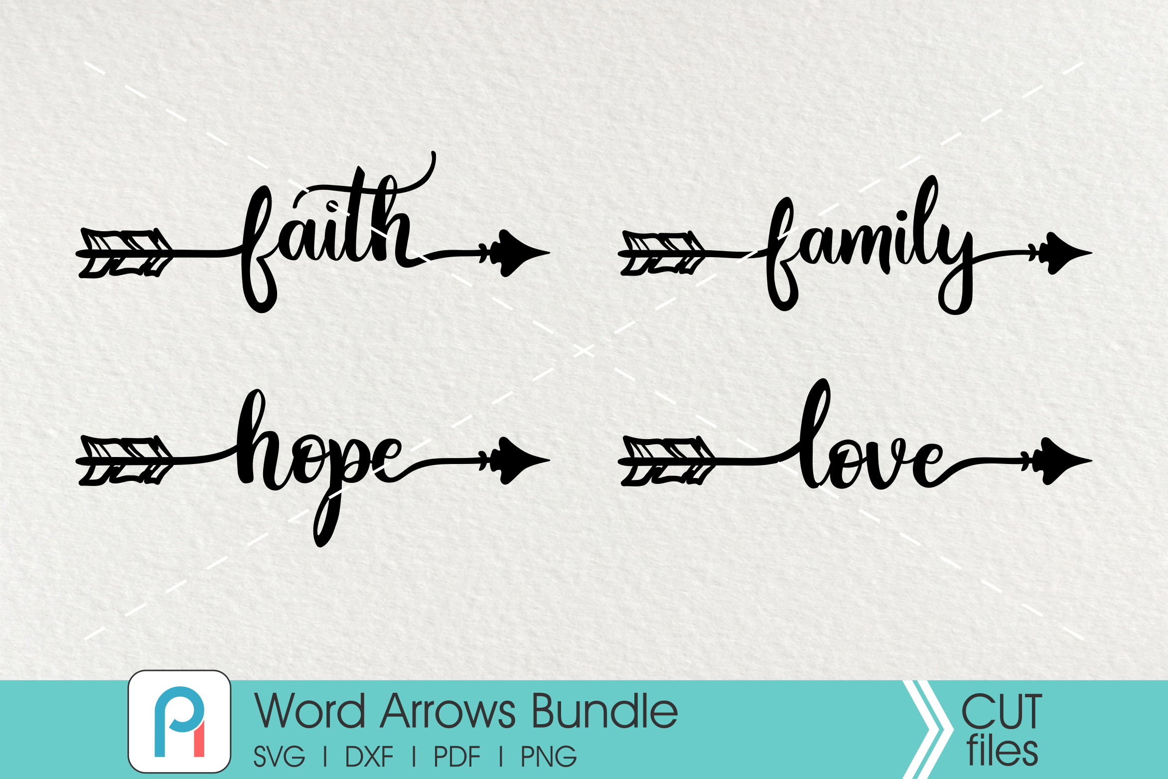 Arrow Svg Arrow Dxf File Love Svg Family Svg Faith Svg Hope Svg