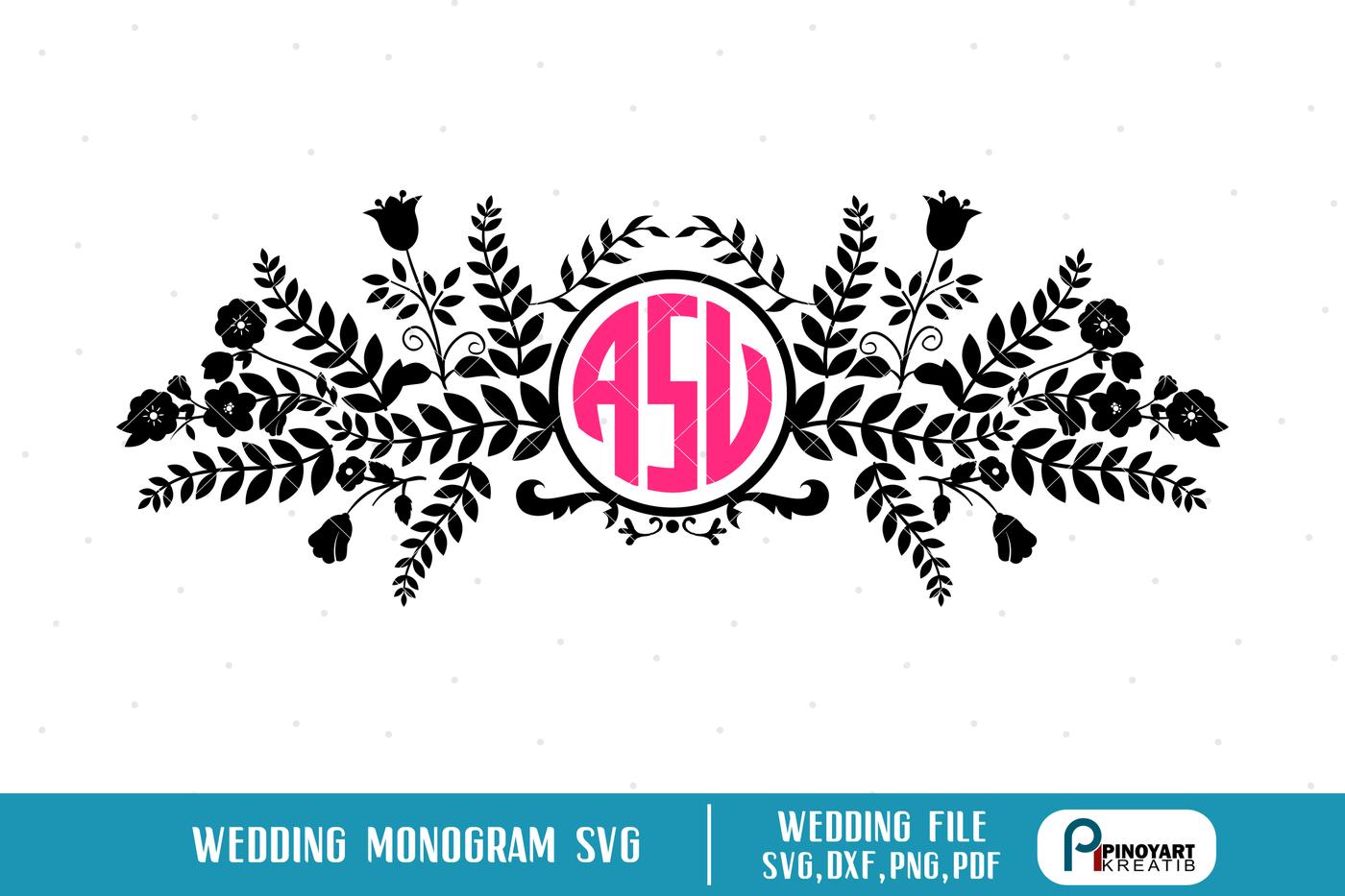 Wedding Svg Wedding Monogram Svg Wedding Monogram Frame Svg
