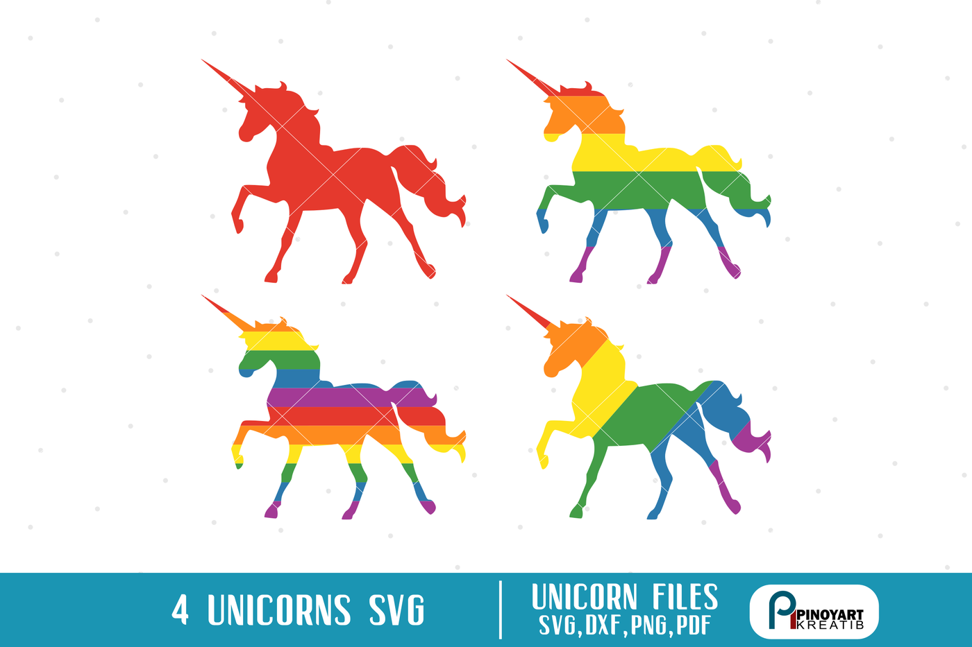 Unicorn Svg Unicorn Pride Svg Gay Pride Svg Color Pride Svg