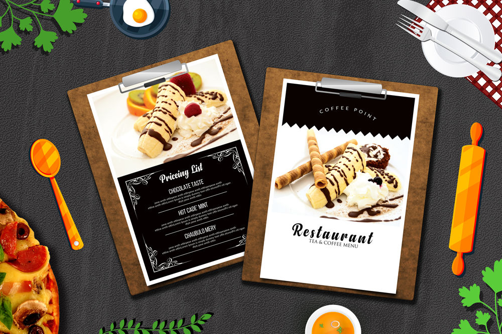 Ice Cream Restaurant Menu Templates By Designhub