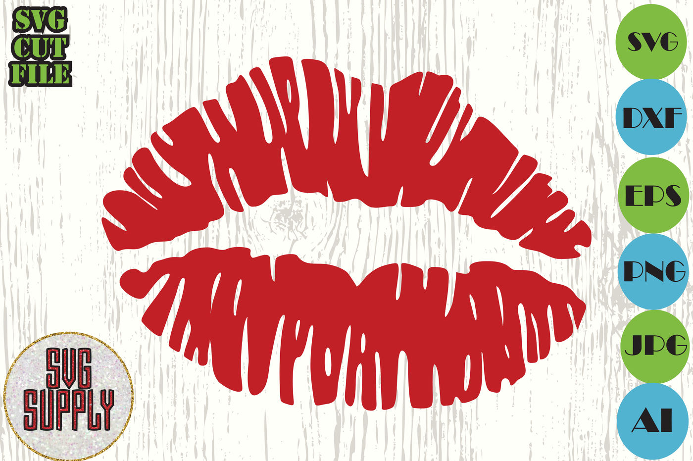 Kiss Svg Lips Svg Cut File Smuck Svg By Svgsupply