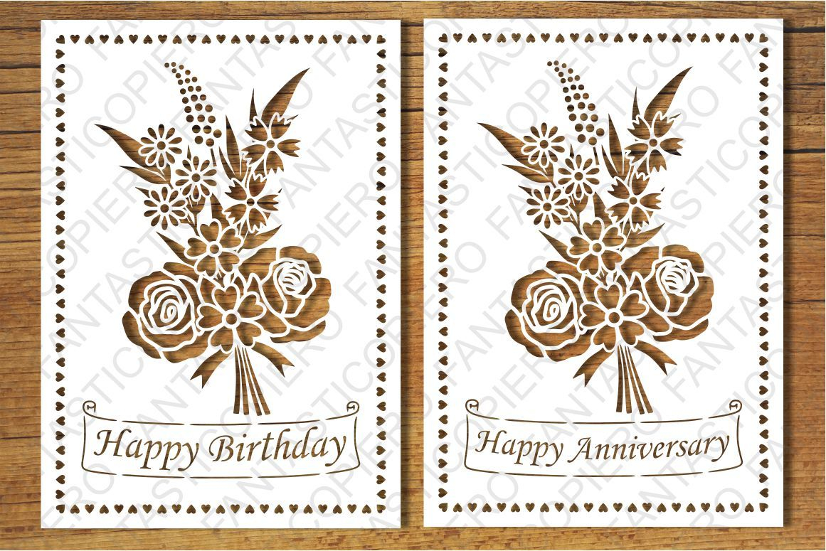 Happy Birthday Happy Anniversary Greeting Card Blank Svg Files