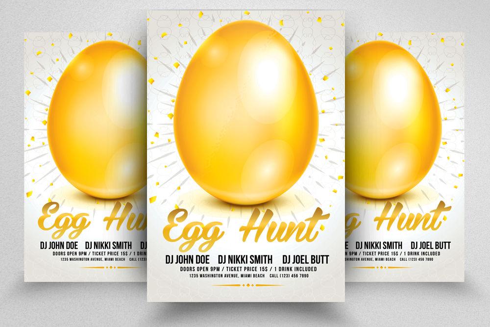 10 Easter Egg Psd Flyer Print Template Bundle By Designhub