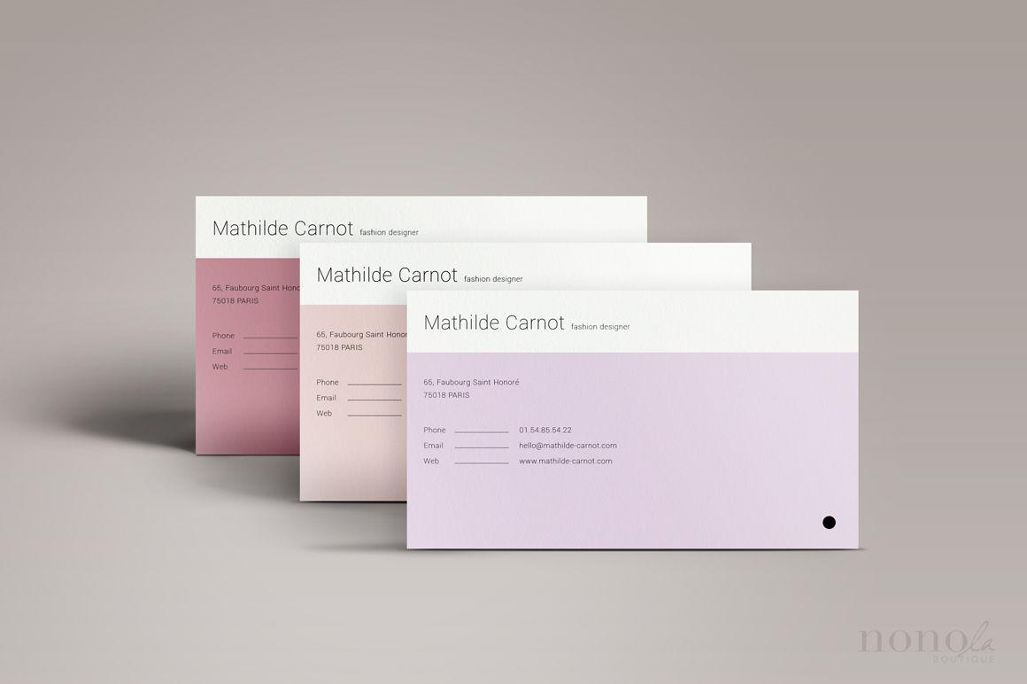 3 Pastel Business Cards Mathilde By Nonola Thehungryjpeg Com