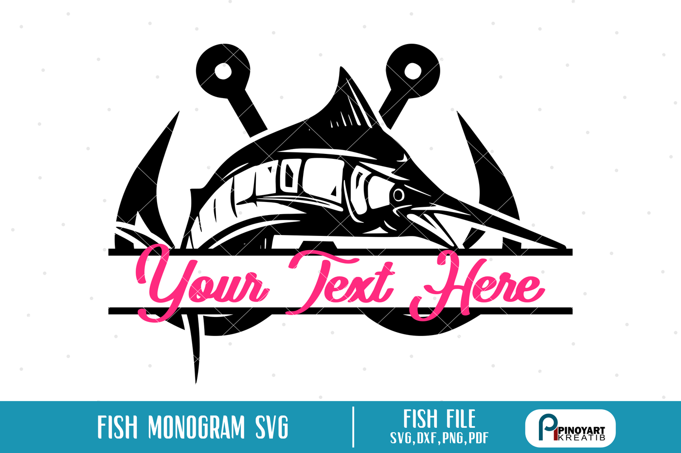 Fishing Logo Svg Fishing Svg Fishing Svg File Fish Svg Fish Dxf