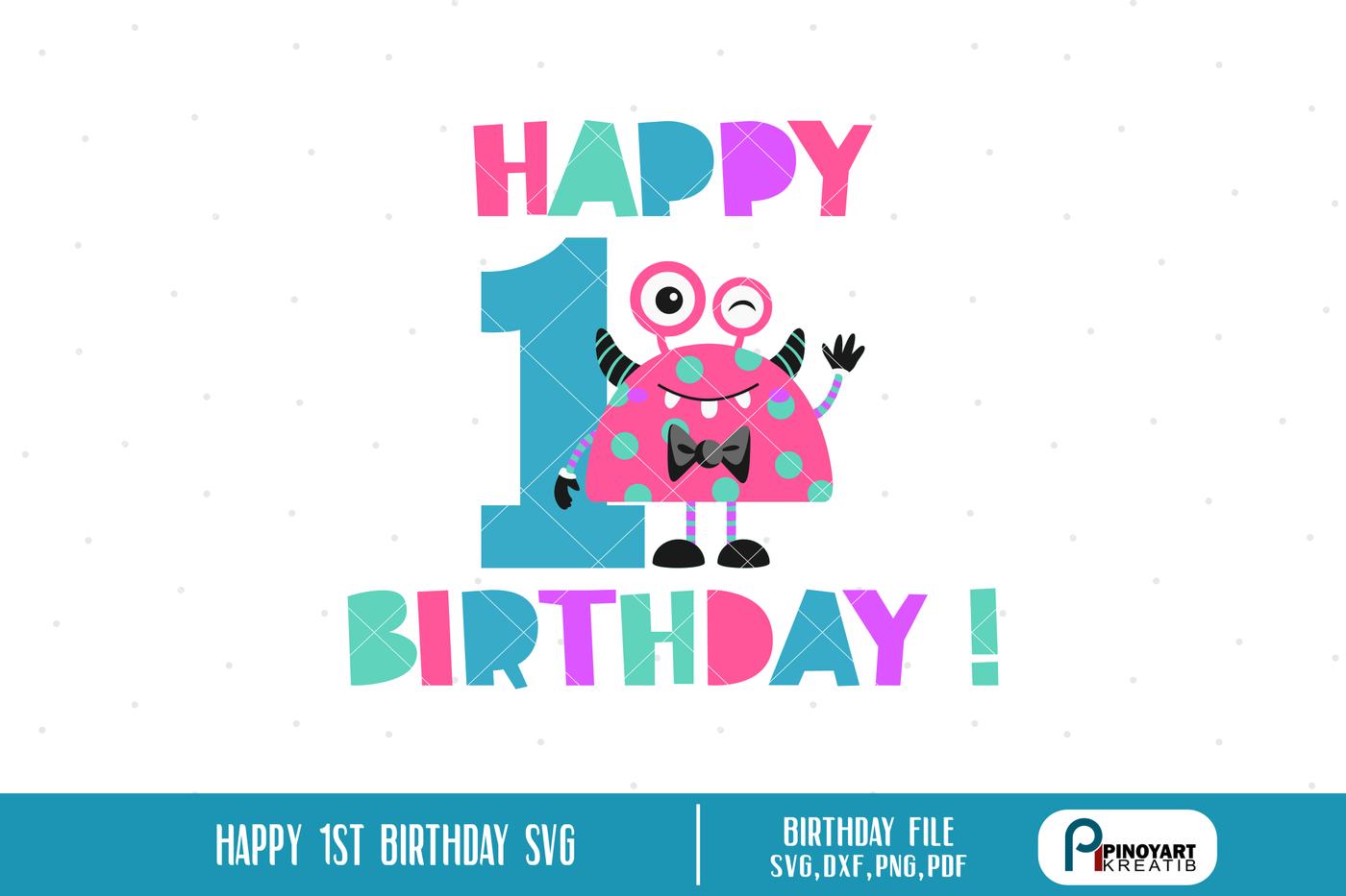 Happy Birthday Svg Birthday Svg Birthday Svg File Birthday Dxf