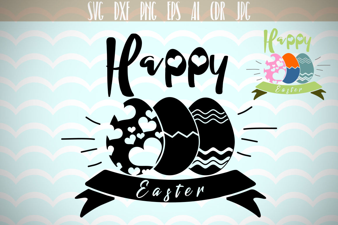 Happy Easter Svg Easter Eggs Svg Three Easter Eggs By Dreamer S