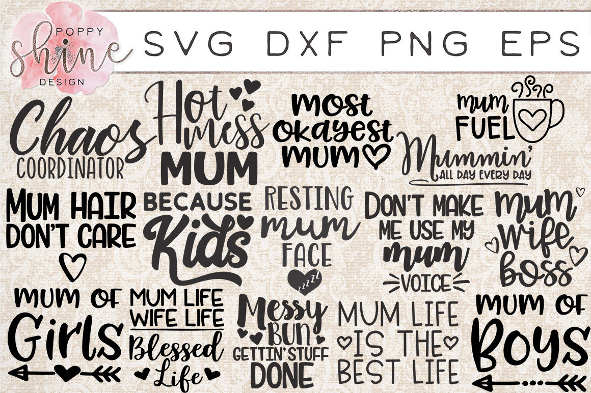 Mummin Bundle Of 15 Svg Png Eps Dxf Cutting Files By Poppy