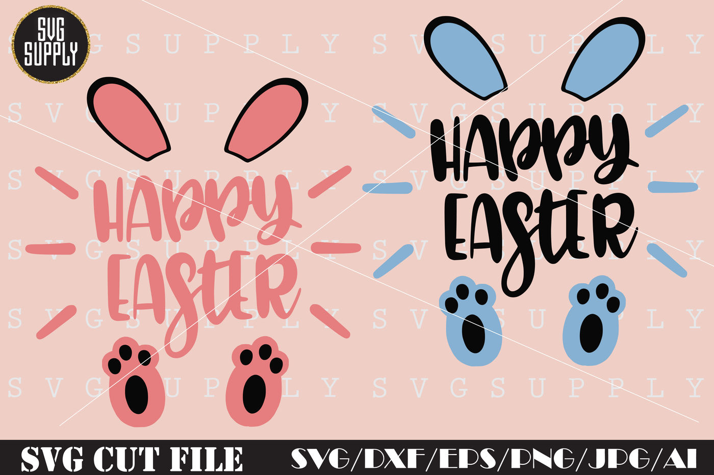 Happy Easter Svg Easter Bunny Svg Cut File By Svgsupply