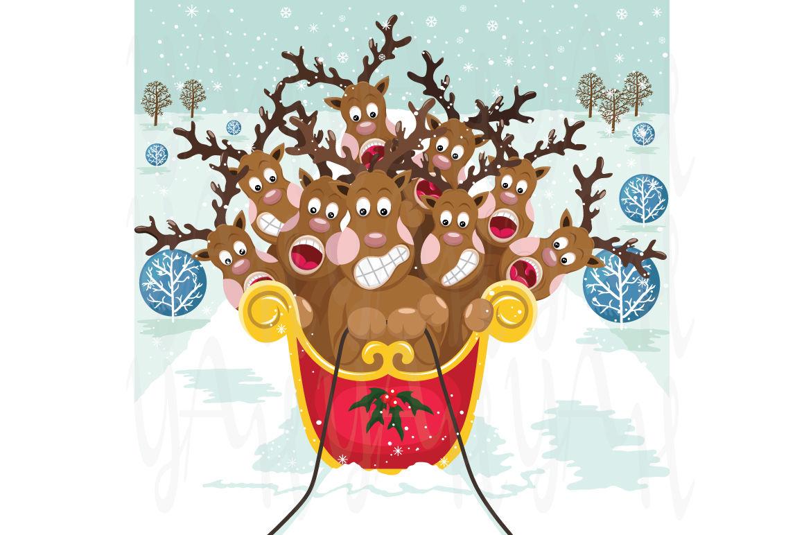 Cute Christmas Reindeer By Yenzarthaut Thehungryjpeg Com