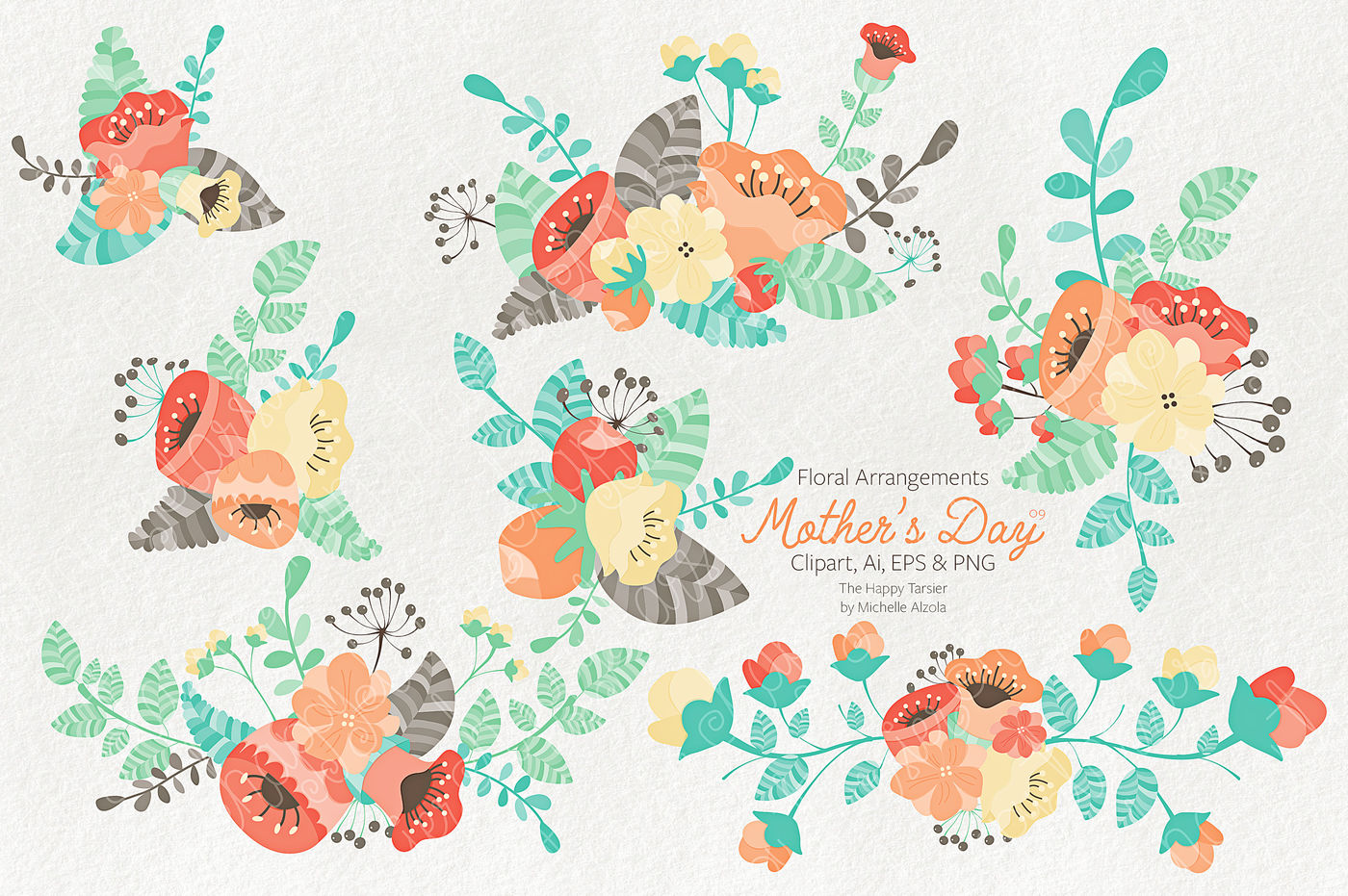 Mother S Day Clipart And Vector Graphics By Michelle Alzola