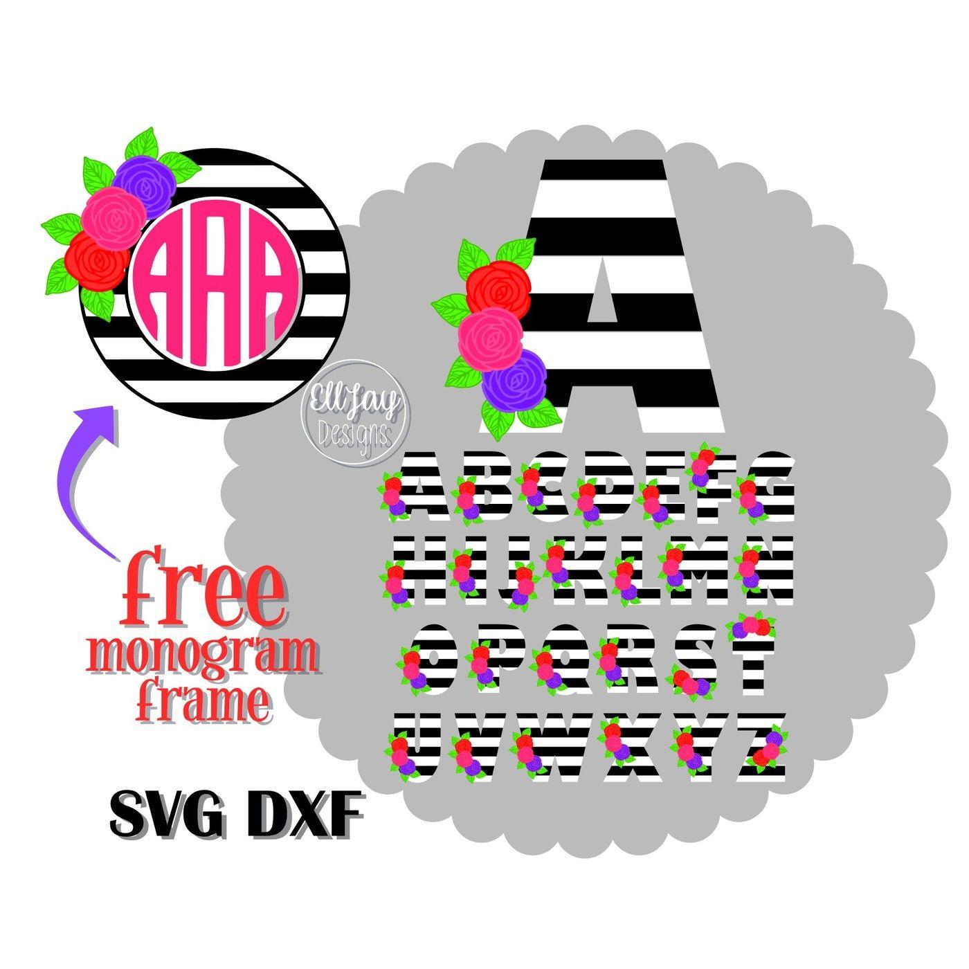 Cricut Free Monogram Svg