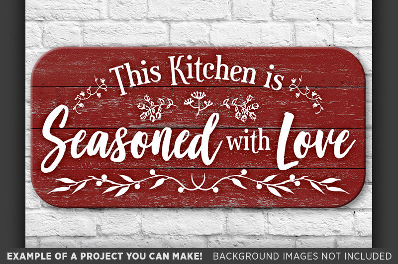 This Kitchen Is Seasoned With Love Svg Country Kitchen 677 By