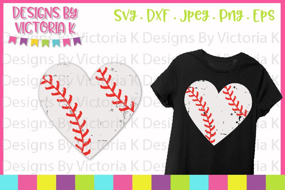 Baseball Svg Baseball Heart Love Baseball Grunge Svg Dxf Cut