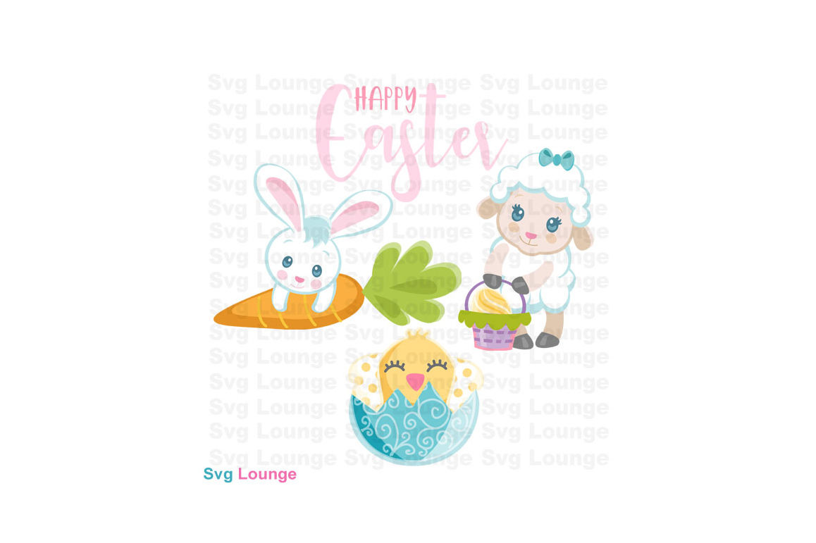 Happy Easter Svg Cut File By Svg Lounge Thehungryjpeg Com