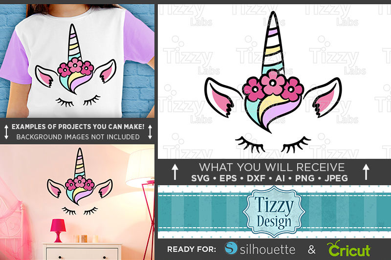 Unicorn Svg Cute Unicorn Shirt Design Svg Unicorn Face 1001