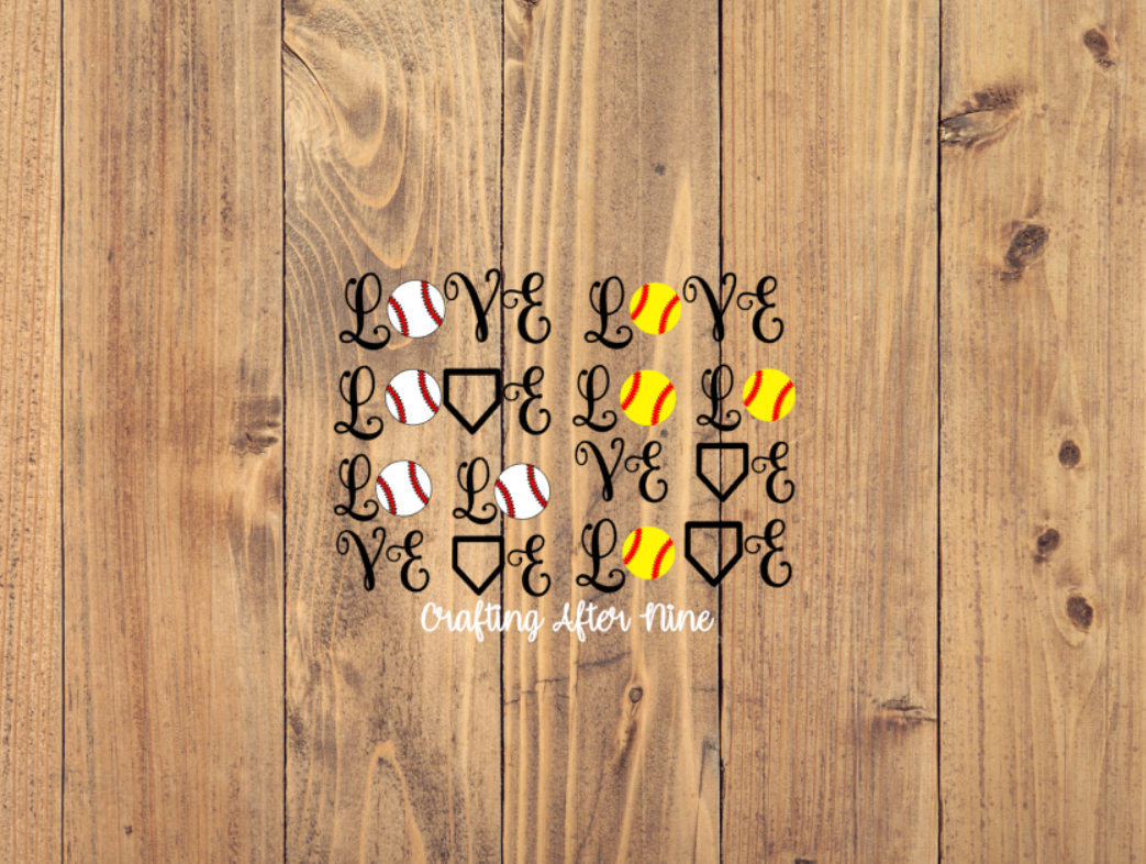 Cursive Love Baseball Svg By Crafting After Nine Thehungryjpeg Com
