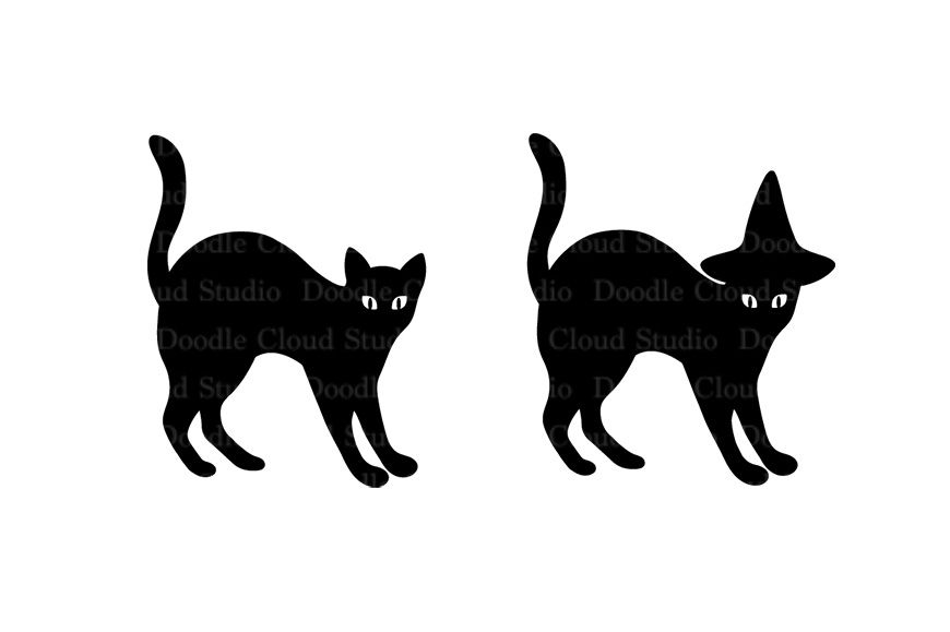 Cats Svg Files For Silhouette Cameo And Cricut By Doodle Cloud