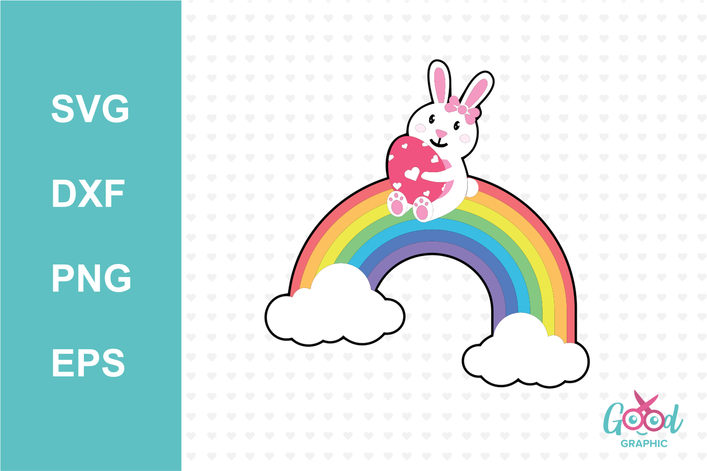 Happy Easter With Rainbow Svg Cutting Files By Good Graphics