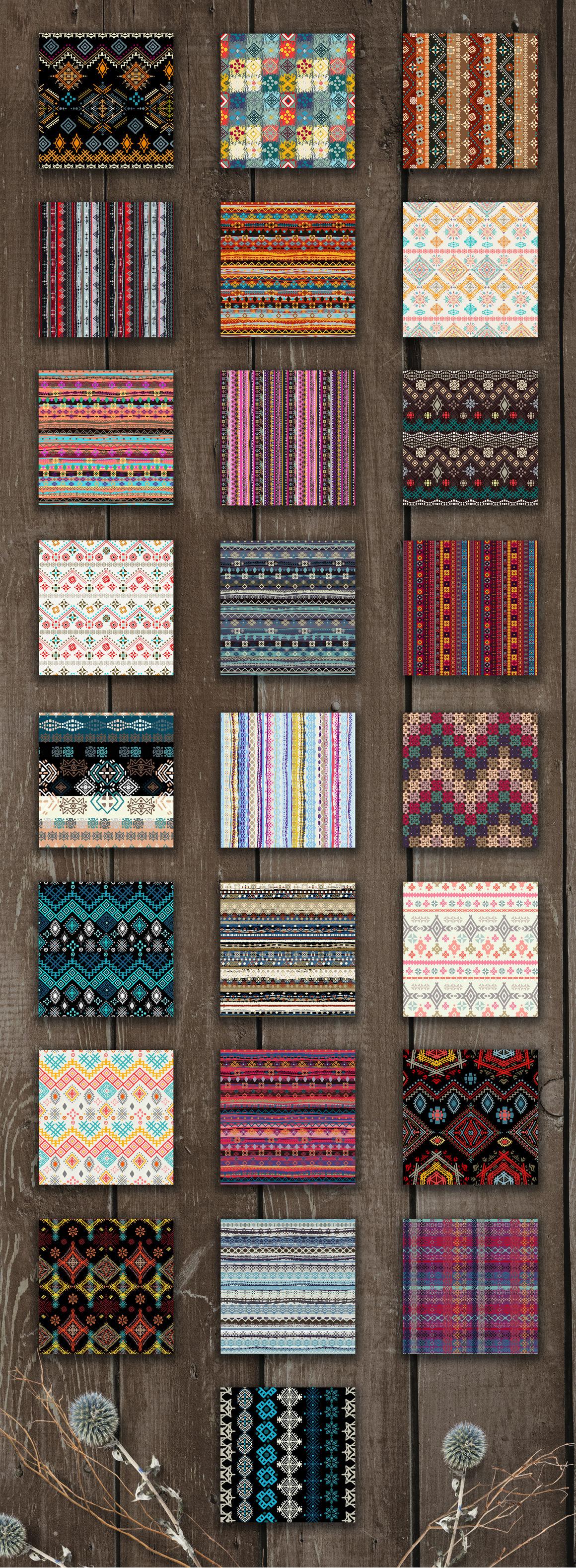 Ethnic Seamless Patterns 2 By Nataleana Thehungryjpeg Com