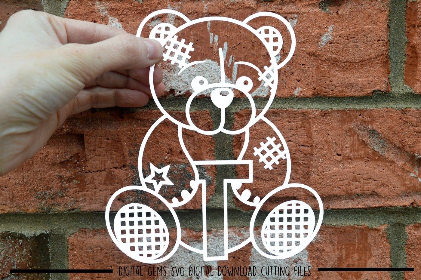 Full Alphabet Teddy Bear Paper Cut Svg Dxf Eps Files By