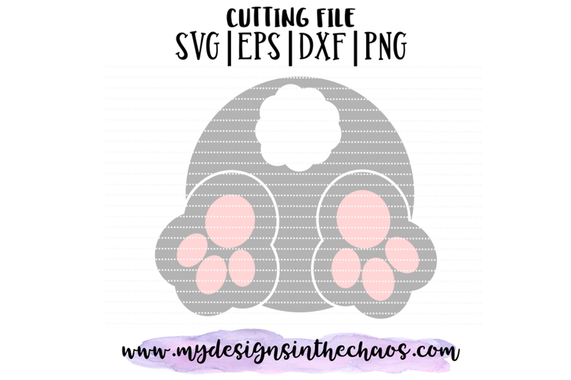 Easter Svg Bunny Tail Svg Easter Monogram Svg Silhouette By