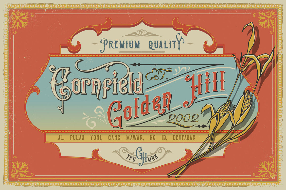 Victorian Fonts Collection By Burntilldead | TheHungryJPEG com