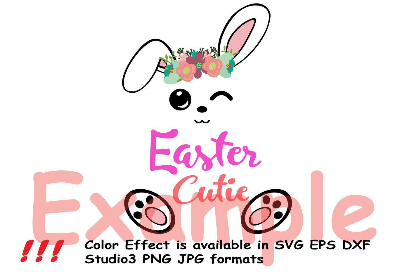 Easter Bunny Silhouette Glitter Rabbit Carrot Outline 758s By