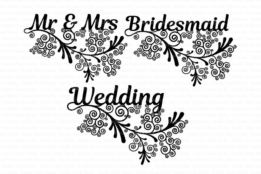 Wedding Friezes Floral Svg Files For Silhouette Cameo And Cricut