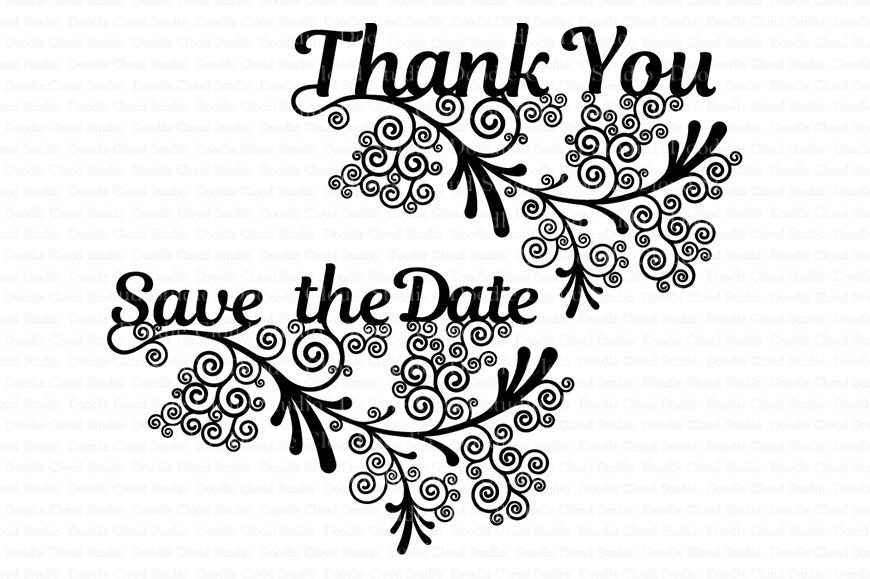 Wedding Svg Files For Silhouette Cameo And Cricut By Doodle Cloud