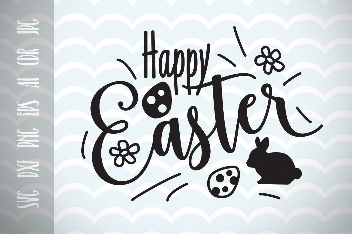 Happy Easter Svg Vector File Easter Greetings Trendy Svg File By
