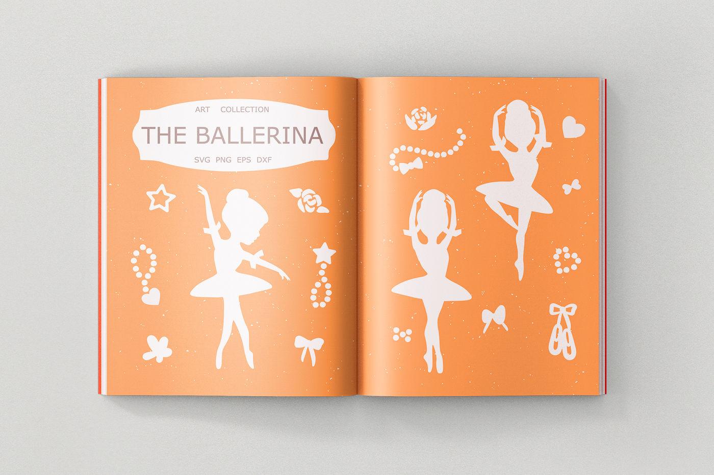Ballerina Svg Cut File Clipart Illustration By Sweet Panda Store