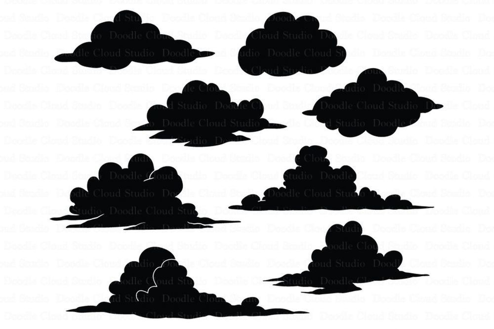 Clouds Svg Files For Silhouette Cameo And Cricut By Doodle Cloud