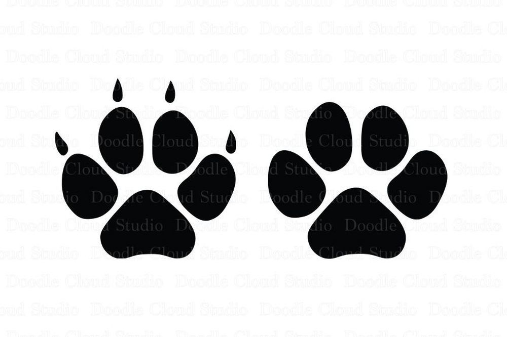 Pet Paw Svg Files Dog Svg Files Cat Svg Files For Silhouette