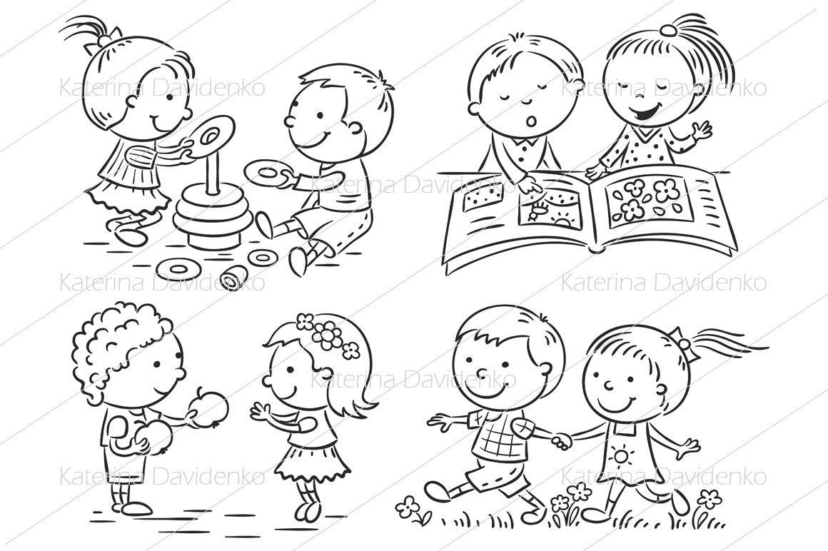 Kids Activities Set By Optimistic Kids Art Thehungryjpeg Com