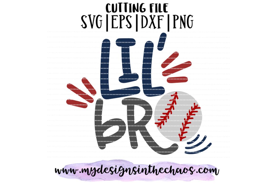 Lil Bro Baseball Svg Baseball Brother Svg Little Brother