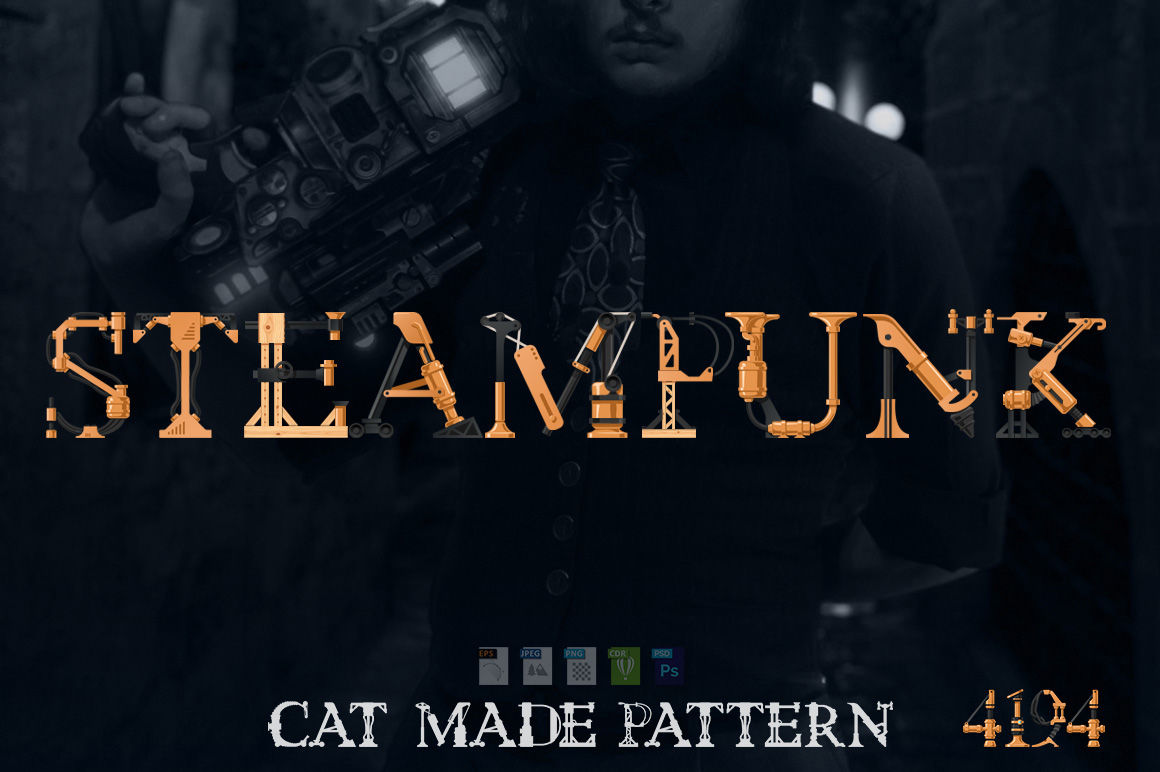 Steampunk Font By Catmadepattern Thehungryjpeg Com